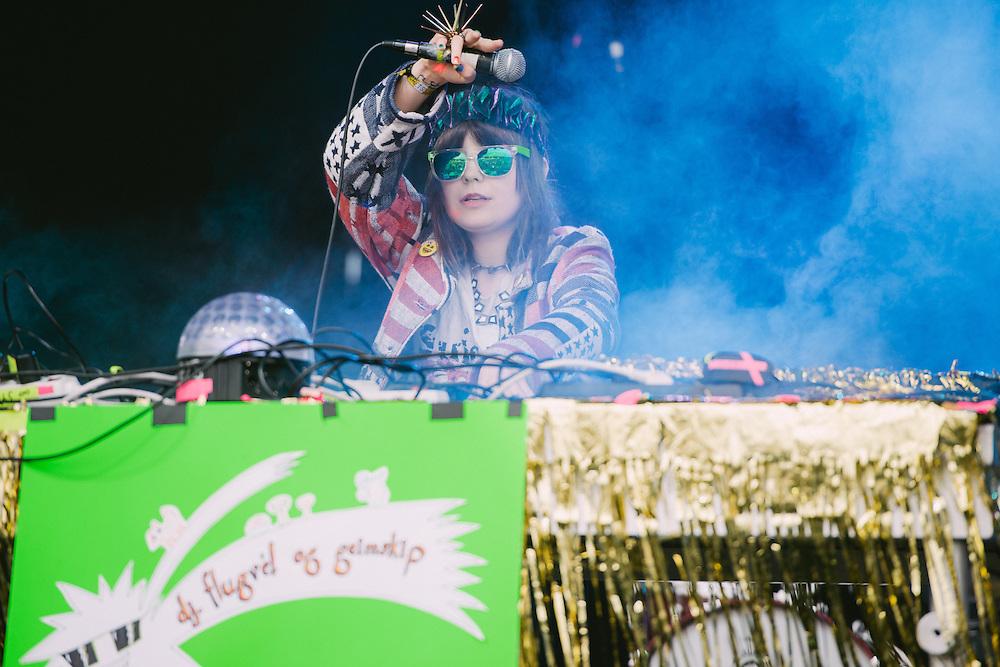 Photos of DJ Flugvel og Geimskip performing live at Secret Solstice Music Festival 2014 in Reykjavík, Iceland. June 22, 2014. Copyright © 2014 Matthew Eisman. All Rights Reserved (Matthew Eisman/Photo by Matthew Eisman)