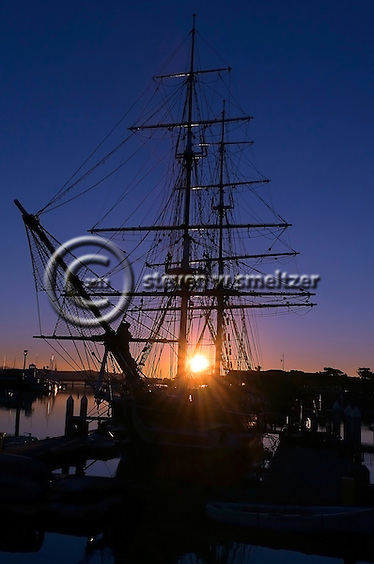 Dawn Treader Ship at Anchor in Dana Point Harbor (Steven Smeltzer)
