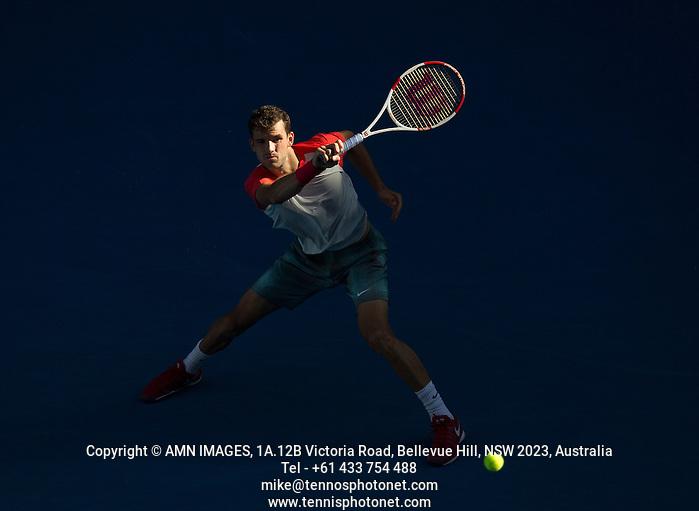 GRIGOR DIMITROV (BUL) Tennis - Australian Open - Grand Slam -  Melbourne Park -  2014 -  Melbourne - Australia  - 22nd January 2013.  © AMN IMAGES, 1A.12B Victoria Road, Bellevue Hill, NSW 2023, Australia Tel - +61 433 754 488 mike@tennisphotonet.com www.amnimages.com International Tennis Photo Agency - AMN Images (FREY - AMN IMAGES)