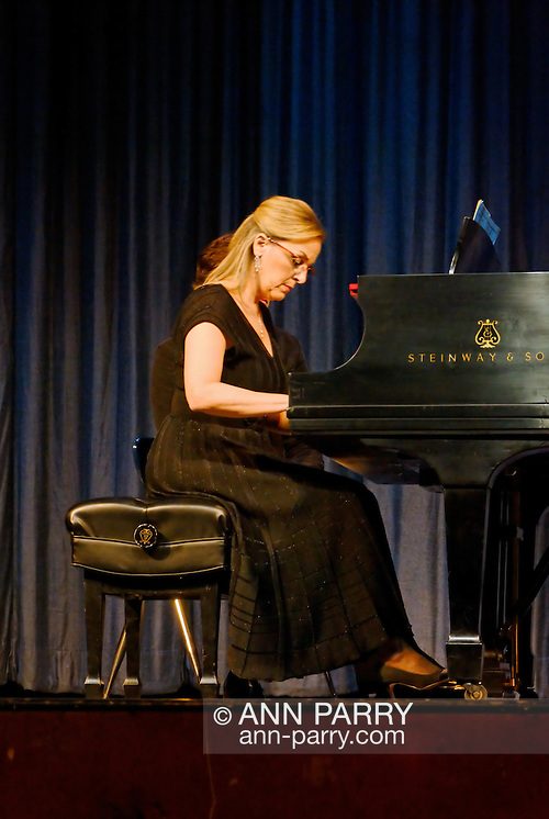 MERRICK - NOV. 13: Marilyn Sherman, pianist, after performing with Stanley Drucker and Naomi Druciker in concert presented by Merrick-Bellmore Community Concert Association, November 13, 2010, in Merrick, NY, USA (Ann Parry/Ann Parry, Ann-Parry.com)