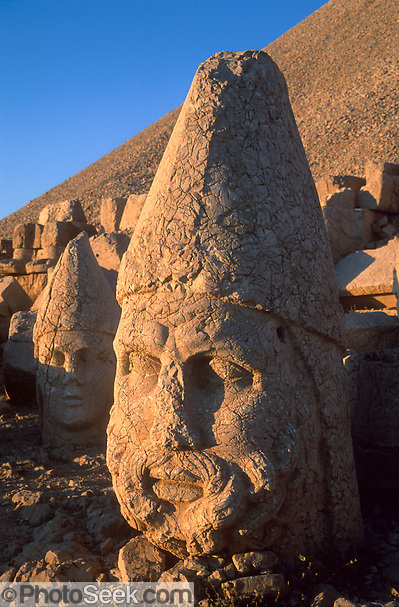 A six-foot tall head of Zeus commemorates the lofty aspirations of pre-Roman King Antiochus (64-38 BC) at Mount Nimrod (Nemrut Dagi), near Malatya, Turkey.