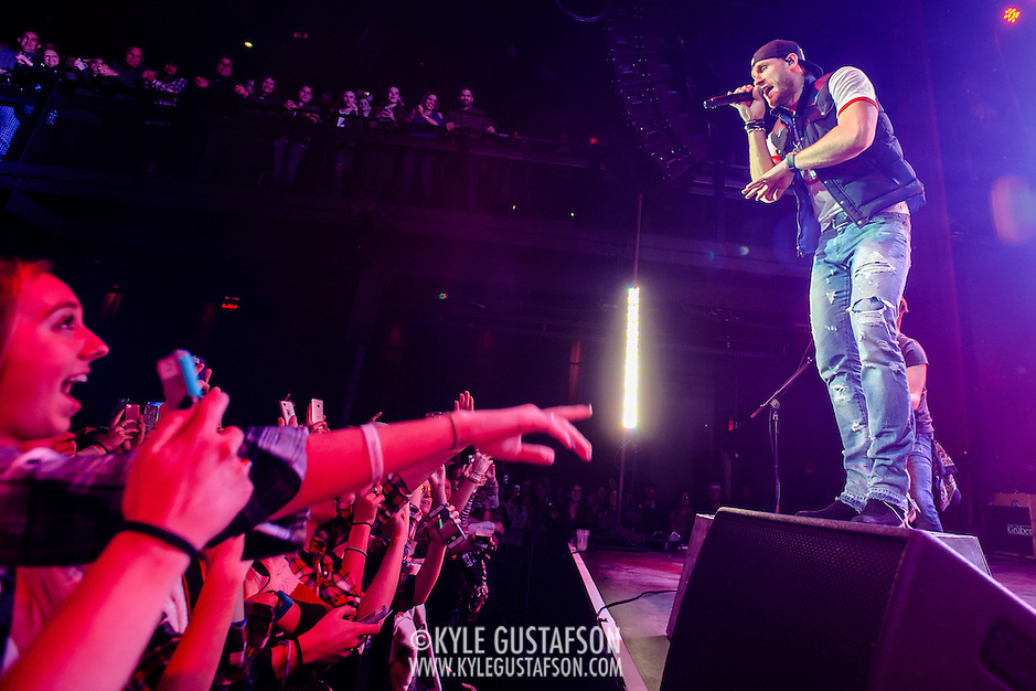 "SILVER SPRING, MD - December 19th, 2014 - Chase Rice performs at the Fillmore Silver Spring in Silver Spring, MD. Rice co-wrote Florida Georgia Line's ""Cruise,"" the best-selling country digital song of all time. He released his debut album, Ignite The Night, in August. (Photo by Kyle Gustafson/For The Washington Post) (Kyle Gustafson/For The Washington Post)"