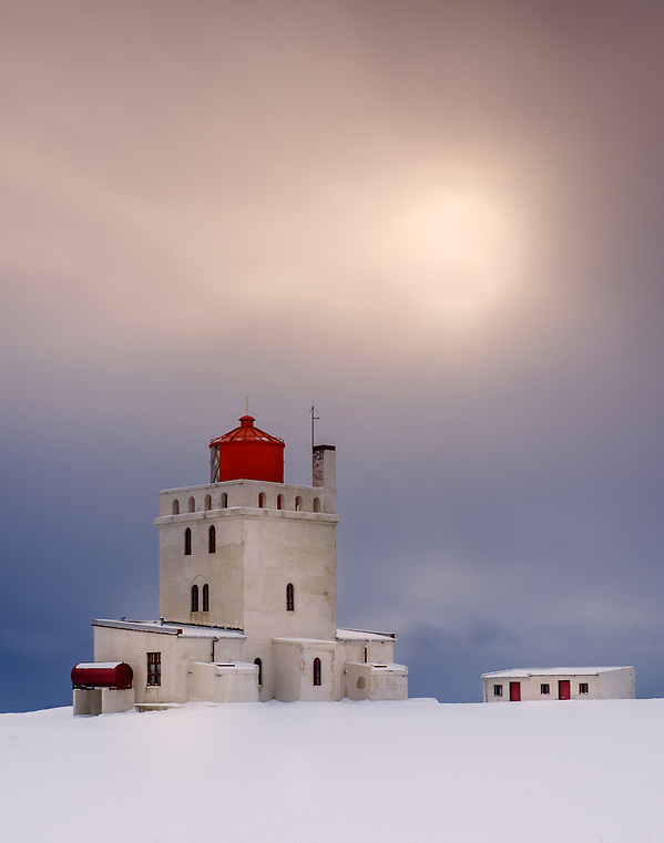 VIK, ICELAND - CIRCA MARCH 2015: View of the Dyrhólaey Lighthouse close to Vik during winter time in Iceland (Daniel Korzeniewski)