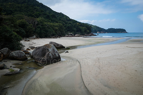 The beach at Dois Rios on the island of Ilha Grande, Brazil. Photo by Andrew Tobin/Tobinators Ltd (Andrew Tobin/Tobinators)