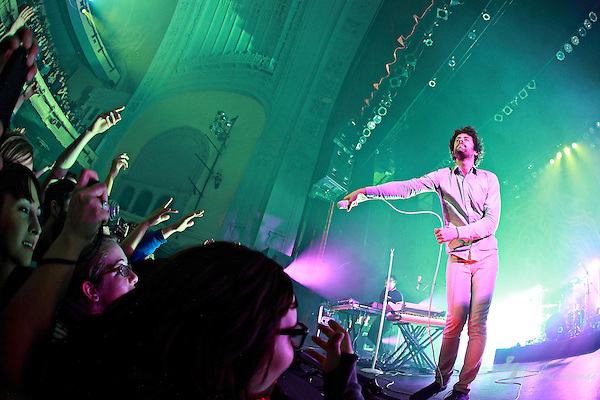 "Passion Pit performs in support of their CD ""Manners"" at the Moore Theatre in Seattle, Washington, November 30th, 2010 (Elisa Sherman)"