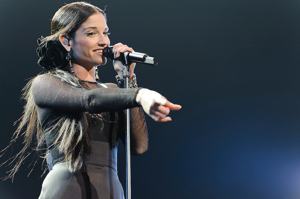 Photos of Spanish singer Natalia Jimenez performing on the En Primera Fila Tour at Radio City Music Hall, NYC. March 24, 2012. Copyright © 2012 Matthew Eisman. All Rights Reserved. ((Photo by Matthew Eisman/WireImage))
