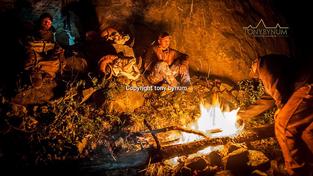 hunters stranded on the mountain after a hunt take refuge in cave
