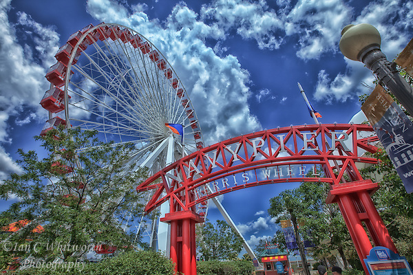 A view of the ferris wheel at Navy Pier in Chicago. (Ian C Whitworth)
