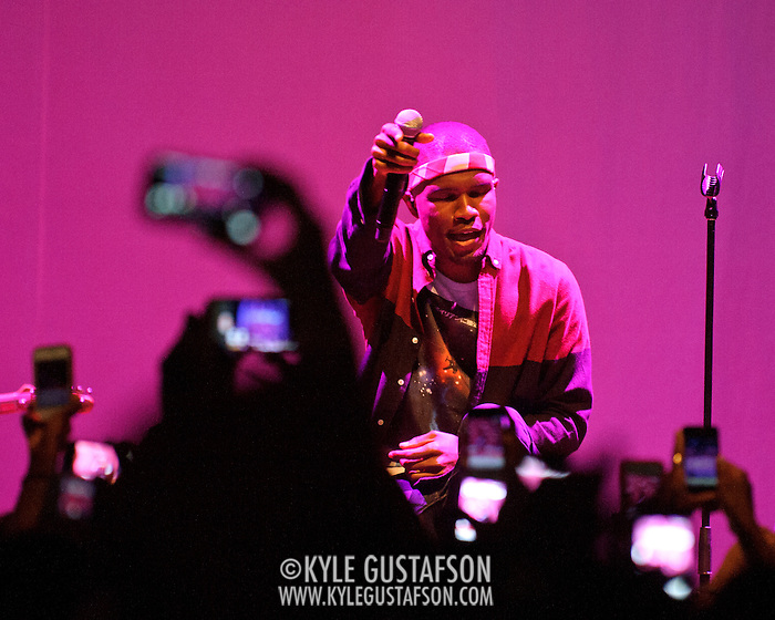 WASHINGTON, DC - July 23rd, 2012 - R&B sensation Frank Ocean performs during a sold-out show at the 9:30 Club in Washington, D.C. Ocean, who recently declared that he is gay, has received widespread acclaim for his debut album, Channel Orange.(Photo by Kyle Gustafson/For The Washington Post) (Kyle Gustafson/For The Washington Post)