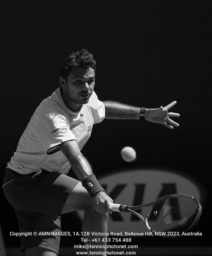 STANISLAS WAWRINKA (SUI) Tennis - Australian Open - Grand Slam -  Melbourne Park -  2014 -  Melbourne - Australia  - 13th January 2014.  © AMN IMAGES, 1A.12B Victoria Road, Bellevue Hill, NSW 2023, Australia Tel - +61 433 754 488 mike@tennisphotonet.com www.amnimages.com International Tennis Photo Agency - AMN Images (FREY - AMN IMAGES)