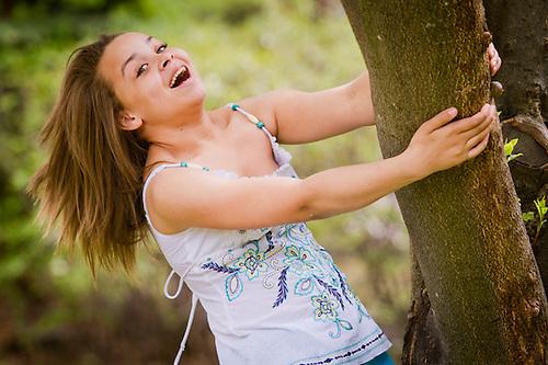 Twelve year old aspiring model, Lauryn Spells, Anchorage (Clark James Mishler)