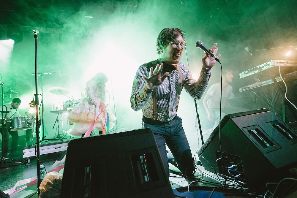 Photos of the Icelandic band FM Belfast performing live during Sónar Reykjavík music festival at Harpa concert hall in Reykjavík, Iceland. February 15, 2014. Copyright © 2014 Matthew Eisman. All Rights Reserved (Matthew Eisman/Photo by Matthew Eisman)
