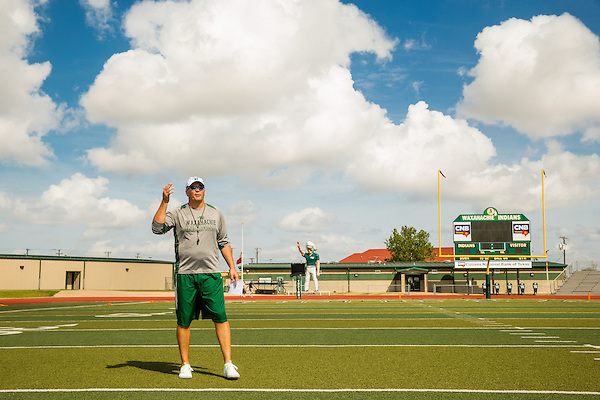 Waxahachie, Texas - September 5, 2015: Jon Kitna, Head Football Coach at Waxahachie High School in Waxahachie, Texas. (Darren Carroll for ESPN) (Darren Carroll)