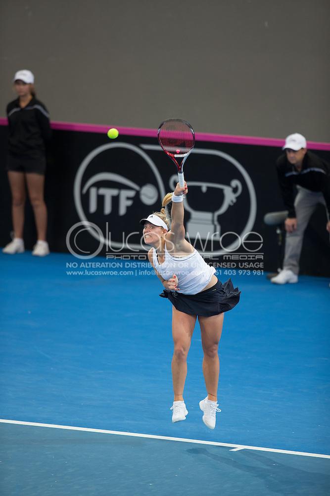 Angelique Kerber (GER), April 19, 2014 - TENNIS : Fed Cup, Semi-Final, Australia v Germany. Pat Rafter Arena, Brisbane, Queensland, Australia. Credit: Lucas Wroe (Lucas Wroe)