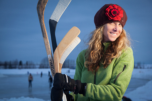 U.S. Fish and Wildlife Manager, attorney, and hockey mom, Lisa Toussaint, Westchester Lagoon, Anchorage (Clark James Mishler)