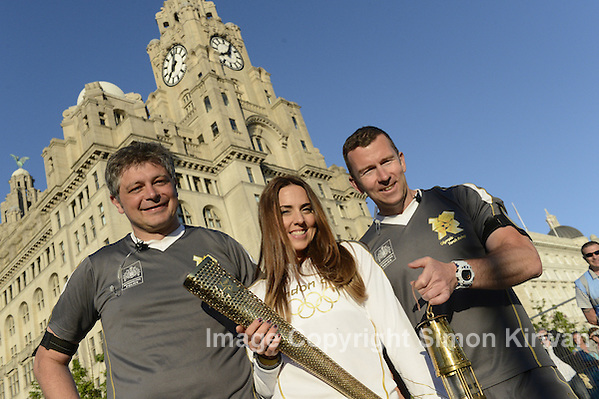 Spice Girl Mel C with Olympic Torch, Pier  Head, Liverpool - photo by Simon Kirwan