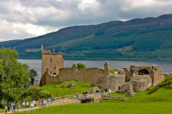 Tourists visit Urquhart Castle on Lock Ness (Ian C Whitworth)