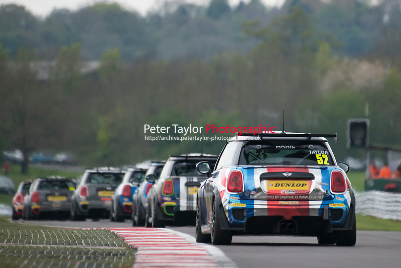 #52 James TAYLOR MINI JCW  during MINI Challenge - JCW  as part of the BRDC British F3/GT Championship Meeting at Oulton Park, Little Budworth, Cheshire, United Kingdom. April 17 2017. World Copyright Peter Taylor/PSP. (Peter Taylor/PSP)