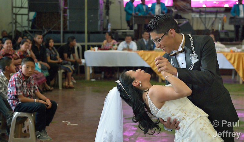 The wedding of Porfirio Benedicto Tzoc Morales and Mariana Guadalupe Garcia Estrada in Cantel, Guatemala. (Paul Jeffrey)