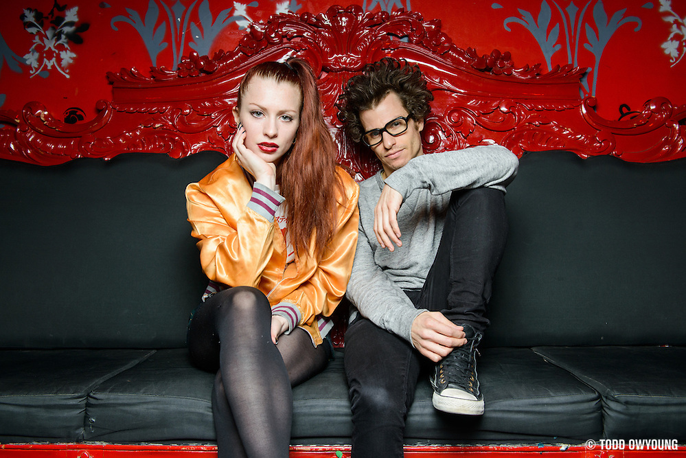 Astr pose for a portrait at Le Poisson Rouge as part of the Red Bull Sound Select Series in New York, NY on February 19, 2014. (Todd Owyoung)