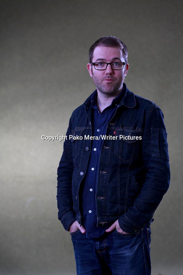 Adam Murphy at Edinburgh International Book Festival 2014. 23rd August 2014 Picture by Pako Mera/Writer Pictures WORLD RIGHTS (Pako Mera/Writer Pictures)