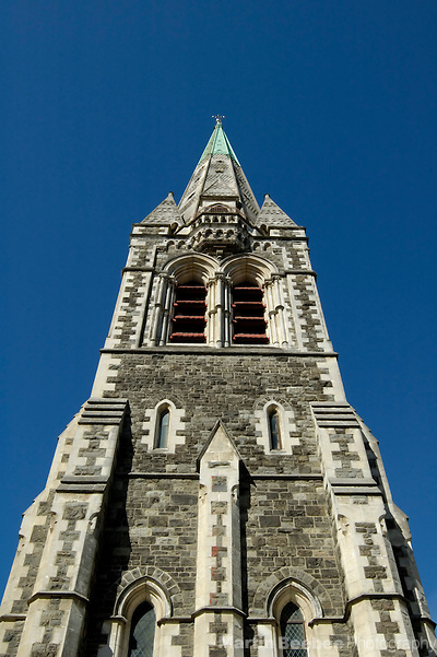 Spire of Christchurch Cathedral in Cathedral Square, Christchurch, New Zealand (Martin D. Beebee/Martin Beebee Photography)