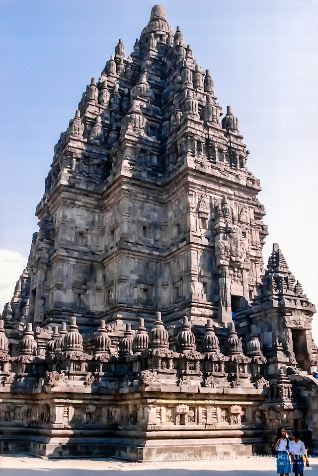Java, Central Java. Prambanan. Candi Shiva Mahadeva, Loro Jonggrang, the center of the temple complex Prambanan. (Bjorn Grotting)