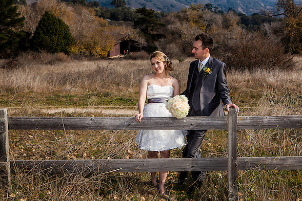 Courtney Stout and Nick Maksimowicz were married in Carmel Valley, California on Saturday, December 10, 2011. (Bryan Farley)