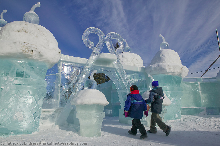 Kiddie Park, 2004 World Ice Art Championships, Fairbanks Alaska. (Patrick J. Endres / AlaskaPhotoGraphics.com)