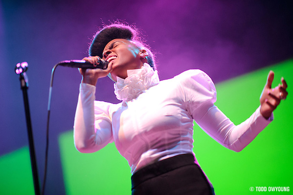 Photos of funk singer Janelle Mon?e performing at the Pageant in St. Louis on October 21, 2010. (? Todd Owyoung)