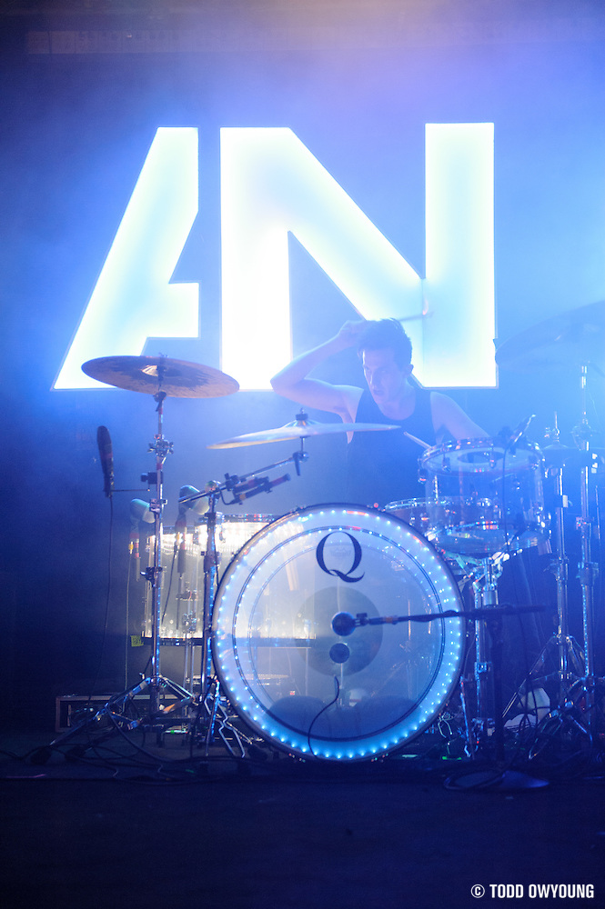 Awolnation performing at Pop's in Sauget, IL on January 21, 2012. (Todd Owyoung)