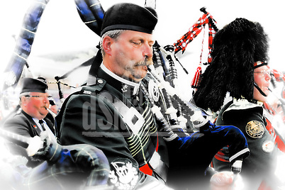 Pipers from several countries  at The Aboyne Highland Games. (Bill Bagshaw & Martin Williams/Bill Bagshaw, www.dsider.co.uk)