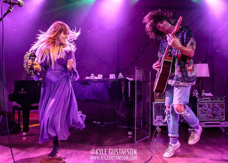 "WASHINGTON, DC - October 10th, 2013 - Hannah Hooper and Christian Zucconi of Grouplove perform at The Hamilton in Washington, D.C. The band's 2011 hit ""Tongue Tied"" sold over 1 million copies, was featured in an iPod Touch commercial and was covered on the TV show Glee. (Photo by Kyle Gustafson / For The Washington Post) (Kyle Gustafson/For The Washington Post)"