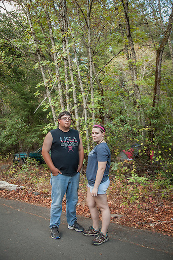 Nineteen year olds from Vallejo,  Nina Morillo and Sean Hewitt are taking off a few days to camp at Bothe-Napa Valley State Park near Calistoga.  ninamosphoto@gmail.com (© Clark James Mishler)
