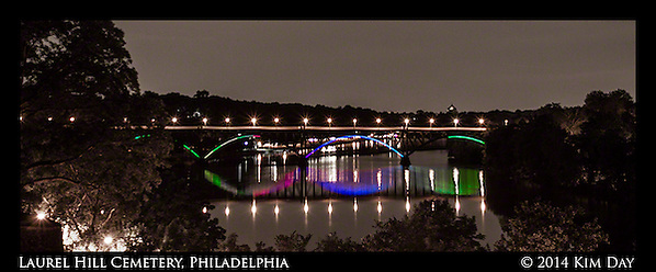 Ford Road Bridge over the Skuykill River From Laurel Hill Cemetery - Philadelphia July 2014 (Kim Day)