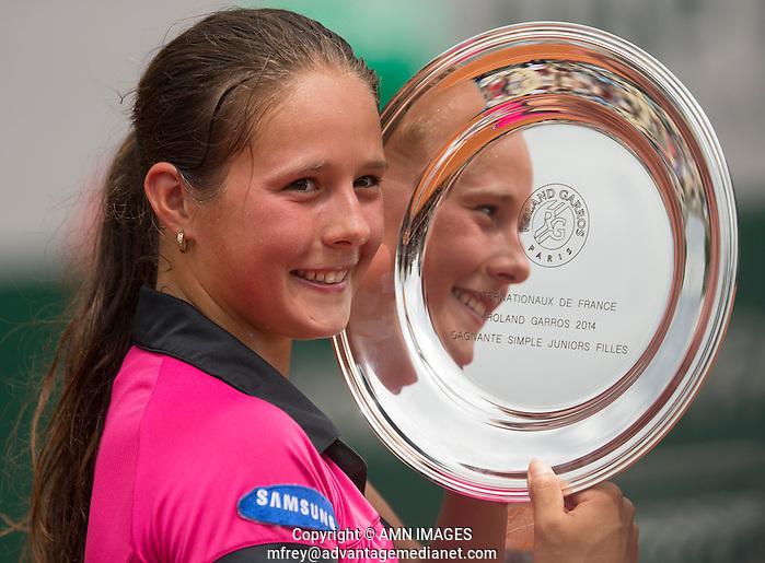 DARYA KASATKINA (RUS) Tennis - French Open 2014 -  Roland Garros - Paris -  ATP-WTA - ITF - 2014  - France -  7th June 2014.  © AMN IMAGES (FREY/FREY- AMN Images)