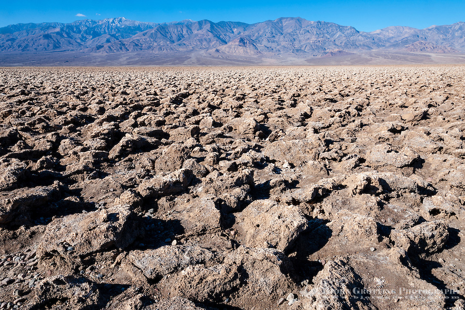 United States, California, Death Valley. The Devil's Golf Course is a large salt pan on the floor of Death Valley, with minerals left behind when the lake evaporated. (Photo Bjorn Grotting)