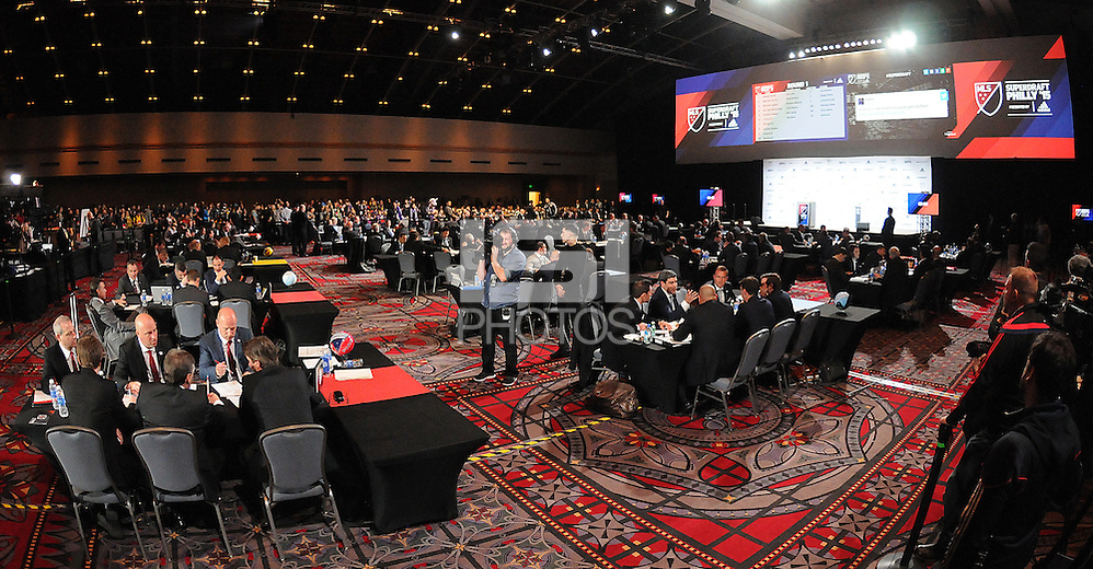Philadelphia, PA. - January 15, 2015: MLS SuperDraftL 2015 at the Pennsylvania Convention Center. (Jose L. Argueta/isiphotos.com)