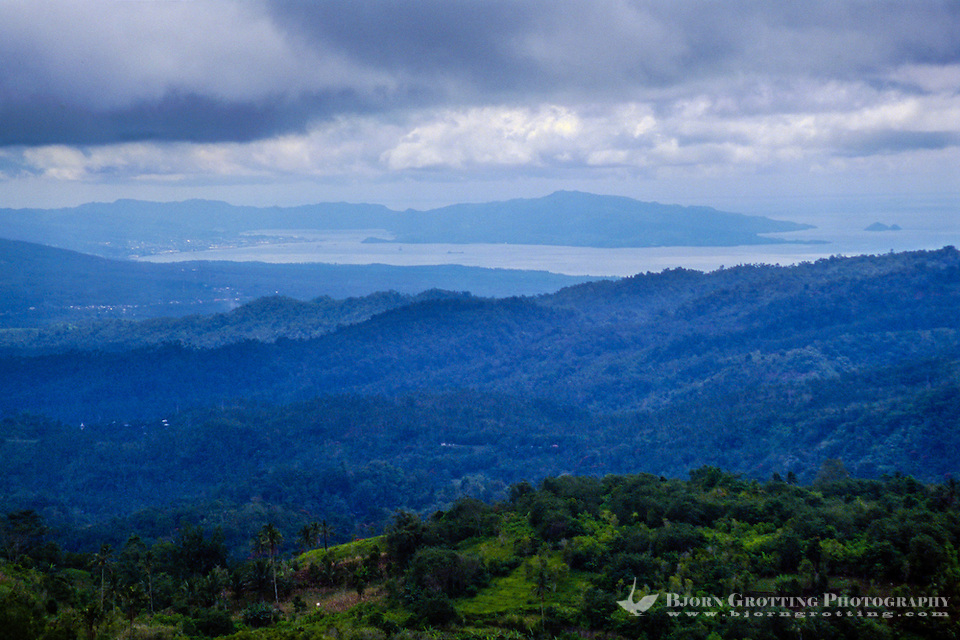Bitung Indonesia  city photos gallery : Indonesia, Sulawesi, Rurukan. Bitung and the Lembeh Strait seen from ...