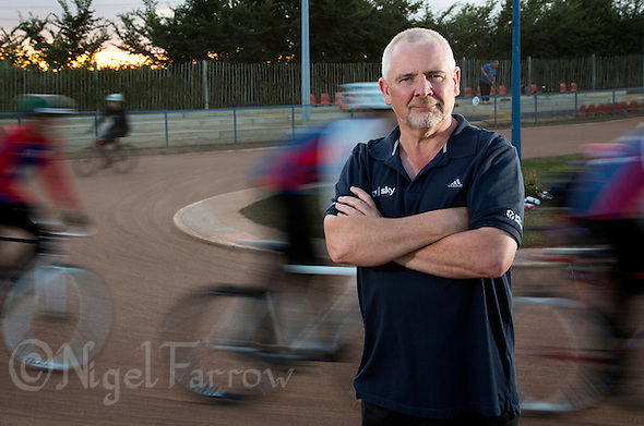 21 JUL 2015 - IPSWICH, GBR - Graham Elliott, Chair of the Cycle Speedway Commission, pictured at Ipswich Cycle Speedway Club at Whitton Sports and Community Centre in Ipswich, Suffolk, Great Britain (PHOTO COPYRIGHT © 2015 NIGEL FARROW, ALL RIGHTS RESERVED) (NIGEL FARROW/COPYRIGHT © 2015 NIGEL FARROW : www.nigelfarrow.com)