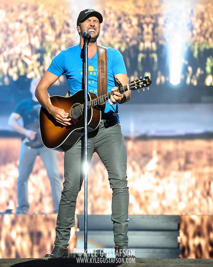 BRISTOW, VA - May 30th 2014 - Luke Bryan performs at Jiffy Lube Live in Bristow, VA. Bryan's 2013 album, Crash My Party, has sold over 1.8 million copies in the U.S. and was the third best selling album of 2013. (Photo by Kyle Gustafson / For The Washington Post) (Kyle Gustafson/For The Washington Post)