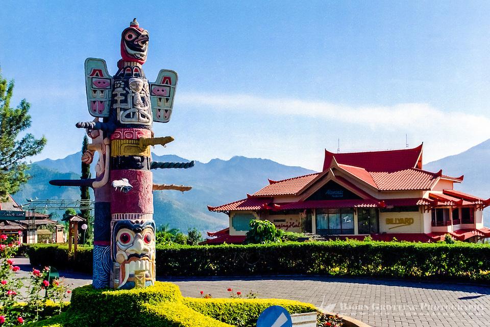 Java, East Java, Batu. Kusuma AgroWisata hotel in Batu. (Bjorn Grotting)