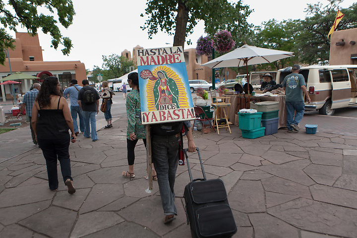 Caravan for Peace: Peace and Poetry on the Plaza in Santa Fe New Mexico on Monday, Aug 20th, 2012. (Steven St. John)