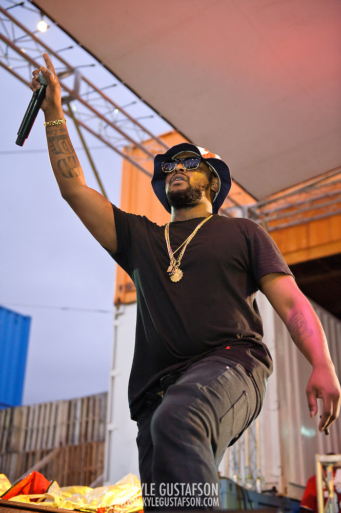 WASHINGTON, DC - August 11th, 2012 - Underground hip-hop sensation Schoolboy Q performs at the inaugural Trillectro Festival at the Half Street Fairgrounds in Washington, D.C. The festival was a combination of hip-hop and dance acts, bringing together fans of both genres.  (Photo by Kyle Gustafson/For The Washington Post) (Kyle Gustafson/For The Washington Post)