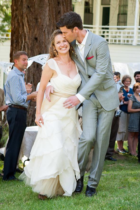 The newlyweds at breidi and Marshall's wedding in Wawona, CA, on June 16, 2012. (Sha Sha Chu)