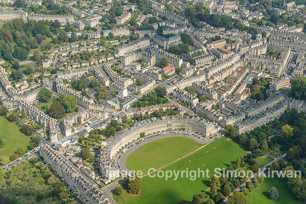 Royal Crescent, Bath from the Air - Aerial Photography By Simon Kirwan www.the-lightbox.com