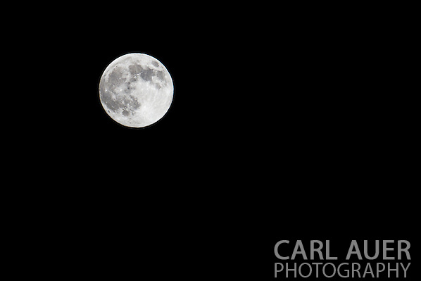 The moon photographed on Saturday, June 22nd at one of the closest orbits to the earth, commonly referred to as a Supermoon. (Carl Auer)