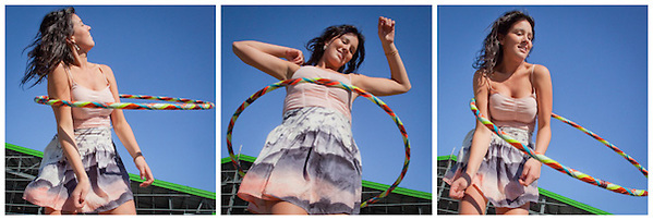 Expert Hula Hooper, Sarah Matula, at the Alaska State Fair, Palmer, Alaska (Clark James Mishler)