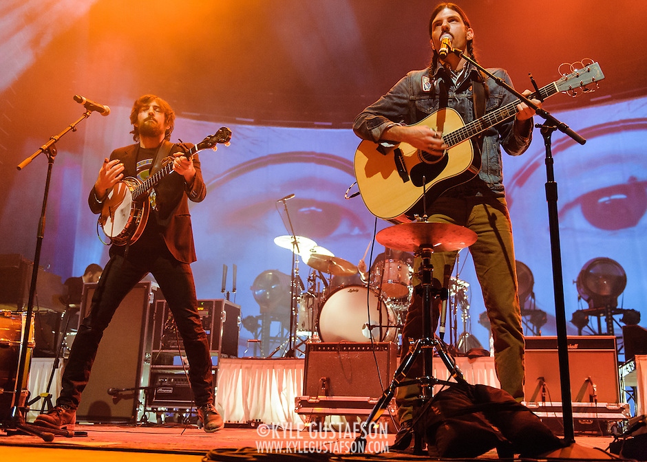 FAIRFAX, VA - February 28th, 2014 - Scott and Seth Avett of The Avett Brothers perform at the Patriot Center in Fairfax, VA. Their latest album, Magpie and the Dandelion, reached #5 on the U.S. Billboard 200 chart. (photo by Kyle Gustafson / For The Washington Post) (Kyle Gustafson/For The Washington Post)