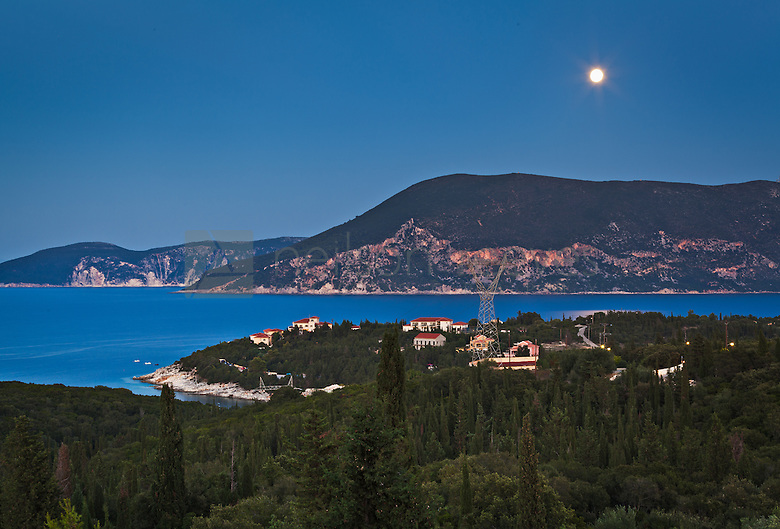 Firskardo Bay photographed from the 3rd floor room alymra hotel kefalonia